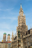 Munchen New Town Hall  Marienplatz Stock Image