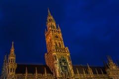 Munchen New Town Hall  Marienplatz. Munich Royalty Free Stock Images