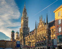 Munchen new town hall. New Town Hall in Munich, Germany Royalty Free Stock Photo