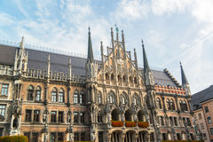 Munchen Nieuw Stadhuis Marienplatz Royalty-vrije Stock Foto