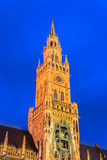 Munchen Nieuw Stadhuis Marienplatz Stock Foto's