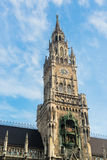 Munchen nytt stadshus Marienplatz Arkivfoto