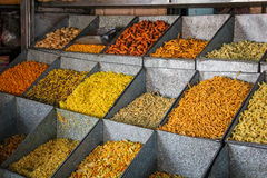 Munching Shop. India is land of verity and each state has its on different munching snacks. Photo describes snacks displayed for selling stock photography
