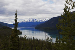 Muncho Lake Alaska Highway Canada Stock Image