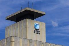 Muncie, ВНУТРИ - около август 2016: Городская центральная телефонная станция AT&T AT&T Inc американские Радиосвязи Корпорация XI стоковое изображение rf