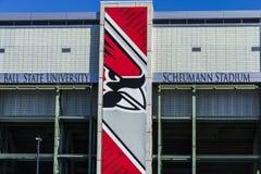 Muncie - около март 2017: Стадион Scheumann на государственном университете шарика Стадион раскрытый в I 1967 Стоковые Изображения RF