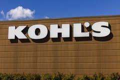 Muncie - около сентябрь 2016: Положение магазина розничной торговли Kohl Kohl приводится в действие над 1.100 магазинами уцененны Стоковые Фотографии RF