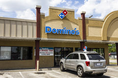 Muncie, IN - Circa August 2016: Domino's Pizza Carryout Restaurant III. Domino's Pizza Carryout Restaurant. Domino's is 97% franchise-owned with 840 independent Stock Images