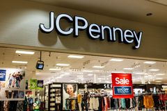 Muncie - Circa August 2018: JC Penney Retail Mall Location. JCP is an Apparel and Home Furnishing Retailer IV. JC Penney Retail Mall Location. JCP is an Apparel royalty free stock photos
