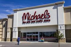 Muncie IN - Circa Augusti 2016: Muncie IN - Circa Juli 2016: Yttersida av Michaels hantverklager II Royaltyfri Bild