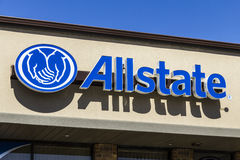 Muncie - Circa March 2017: Allstate Insurance Logo and Signage III Stock Image