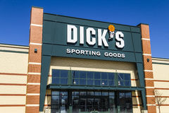 Muncie - Circa March 2017: Dick`s Sporting Goods Retail Location. Dick`s is an Authentic Full-Line Sporting Goods Retailer IV royalty free stock image