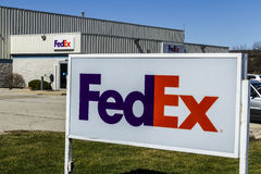 Muncie - Circa March 2017: Federal Express Customer Pickup Location. FedEx is a Worldwide Delivery Company XI Royalty Free Stock Images