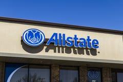 Muncie - circa marzo 2017: Logo di assicurazione di Allstate e contrassegno II Immagini Stock