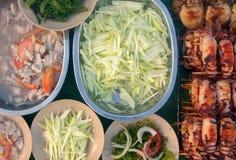 Mund, der lokalen Teller von Sabah wässert Stockbilder