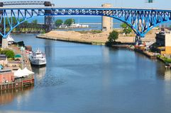 Mund des Cuyahoga Lizenzfreies Stockbild