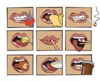 Mund isst Stock Abbildung