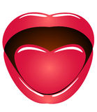 Mund und Sprache Stockbild