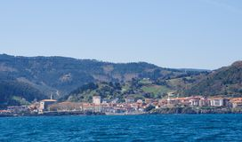 Mundaka from sea Stock Photo