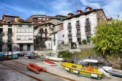 The cute marine village of Mundaka in Basque country, Spain. Mundaka, Spain - October 13, 2018: The cute marine village of Mundaka in Basque country, Spain stock photography