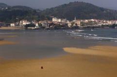 Mundaka ujście Bizcaia, Baskijski kraj, Hiszpania Zdjęcia Royalty Free