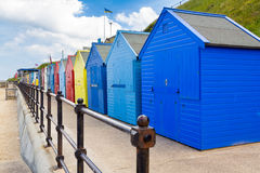 Mundesley Beach Huts Norfolk England Royalty Free Stock Photos