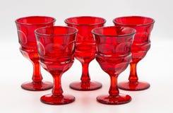 Mundgeblasene Glasbecher für Partei Lizenzfreie Stockfotos