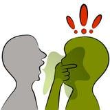 Mundgeruch Stockbild