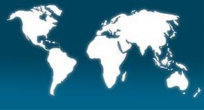Mundi Map Stock Photo