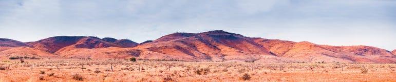 Mundi Mundi Rozciąga się w Środkowym Australia zdjęcia stock