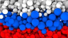 Mundial 2018 Balones de fútbol con los colores de la bandera de Rusia Vídeo original 3D