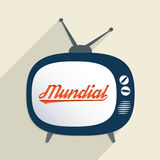 Mundial. Concept for football time, championship and information society. Flat design illustration Stock Images