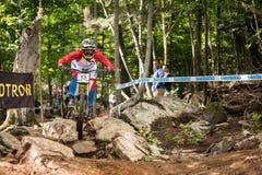 Mundial cuesta abajo 2013, Mont Ste-Anne, Beaupr de UCI fotografía de archivo libre de regalías