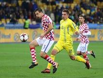 Mundial 2018 de la FIFA que califica: Ucrania v Croacia Foto de archivo libre de regalías