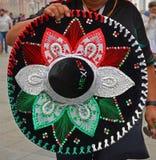 Mundial 2018 de la FIFA Sombrero mexicano Foto de archivo libre de regalías
