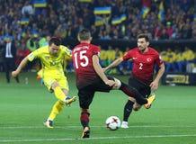 Mundial de la FIFA Ucrania 2018 contra Turquía en Járkov, Ucrania Fotos de archivo
