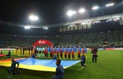 Mundial de la FIFA Ucrania 2018 contra Turquía en Járkov, Ucrania Imagenes de archivo