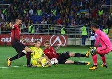 Mundial de la FIFA Ucrania 2018 contra Turquía en Járkov, Ucrania Fotografía de archivo libre de regalías