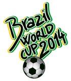 Mundial del Brasil Imágenes de archivo libres de regalías