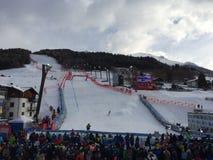 Mundial del esquí en Bormio Foto de archivo