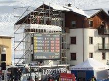 Mundial del esquí en Bormio - cartelera Imagen de archivo