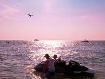 Mundial 2017 del esquí del jet en la playa de Jomtien Fotografía de archivo libre de regalías