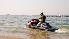 Mundial 2017 del esquí del jet en la playa de Jomtien en Chon Buri, Tailandia Foto de archivo libre de regalías