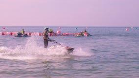 Mundial 2017 del esquí del jet en la playa de Jomtien en Chon Buri, Tailandia Fotos de archivo libres de regalías