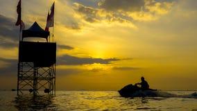 Mundial 2017 del esquí del jet en la playa de Jomtien en Chon Buri, Tailandia Fotografía de archivo libre de regalías