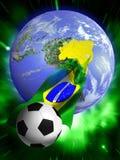 Mundial 2014 del fútbol stock de ilustración
