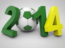 Mundial del fútbol del Brasil ilustración del vector