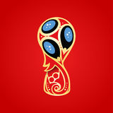Mundial del fútbol en Rusia 2018 Fotografía de archivo libre de regalías