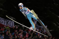 Mundial del salto de esquí de FIS en Zakopane 2016 foto de archivo libre de regalías