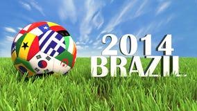 Mundial el Brasil stock de ilustración